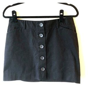 🆕 Express Mini Skirt, Button Front, Black, S